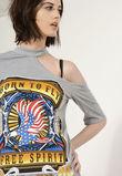 Karmen Grey One Shoulder T-Shirt Dress