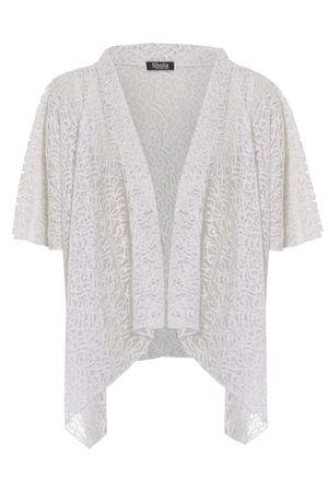 Sia White Lace Mini Kimono