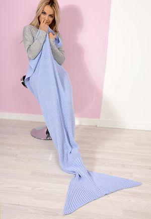 Night Mermaid Blanket Blue