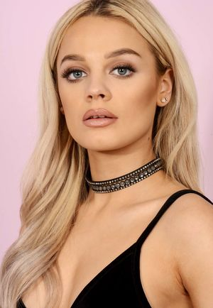 Black Layerd Grey Bejeweled Choker