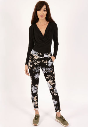 Stella Black PU High Waisted Jeggings-Copy