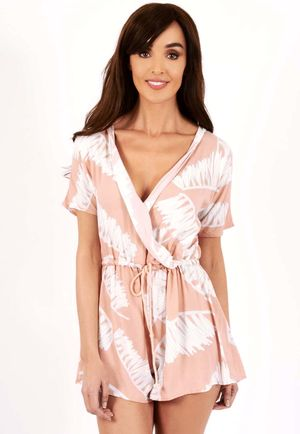 Melissa Wrap Front Nude Playsuit