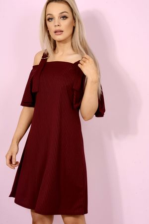 Wine Swing Dress