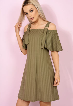 Khaki Swing Dress