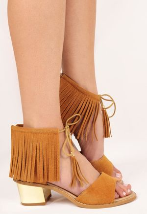 Nita Tan Tassel Tie God Heel Sandals