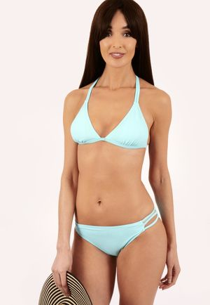 Alesha Blue Triangle Bikini Set