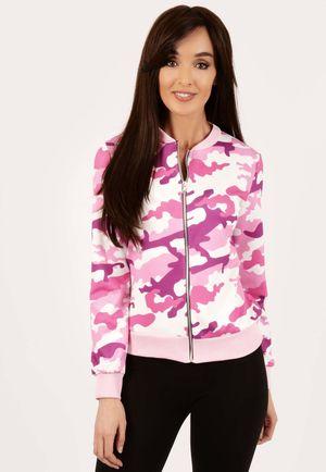 Erin Pink Camo Bomber Jacket