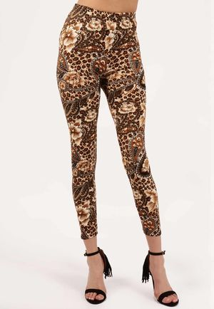 Paige Printed Waisted Jeggings