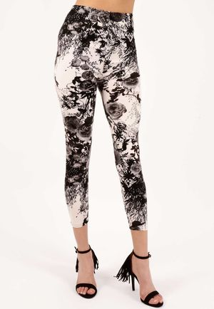 Milia Black White High Waisted Jeggings