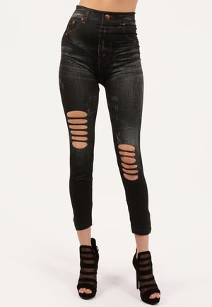 Ayil Blue Stretch High Waisted Jeggings