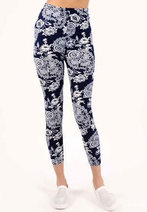 Sammie Blue Printed Leggings