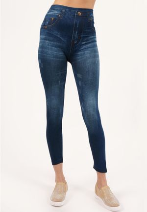 Dallia Blue Stretch High Waisted Jeggings