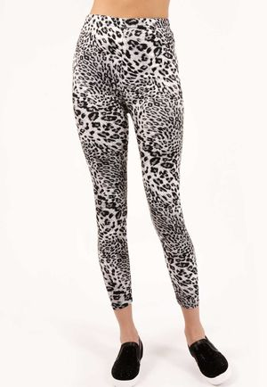Jaymie Black White Leopard High Waisted Jeggings