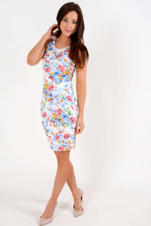 Jil Floral Bodycon Dress