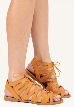 Mica Tan Cut Out Gladiator Sandals
