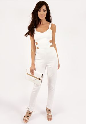 Daisy White Cut Out Jumpsuit