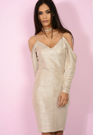 Champagne Shift Dress