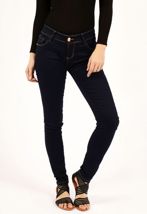 Clara Plain Blue Skinny Jeans