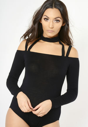 Black Choker Bodysuit