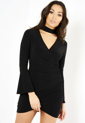 Penny Black Choker Neck Bodycon Dress