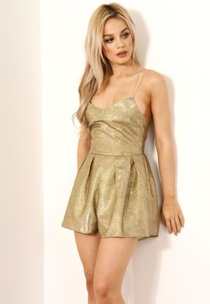 Gold Rush Sparkly Playsuit