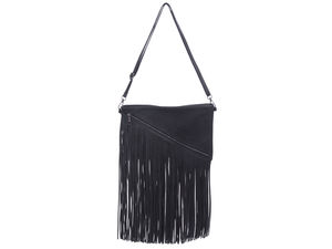 Megan Black Cross Body Tassel Bag