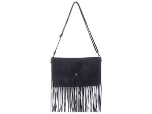 Heidi Black Cross Body Tassel Bag