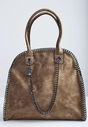 Bella Chain Trim Handbag Brown
