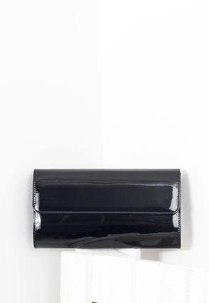 High Shine Black Patent Clutch Bag