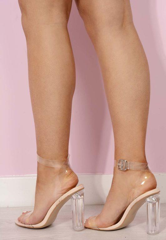 King Kylie Perspex Heel Sandal