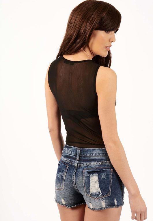Sophie Ripped Denim Shorts