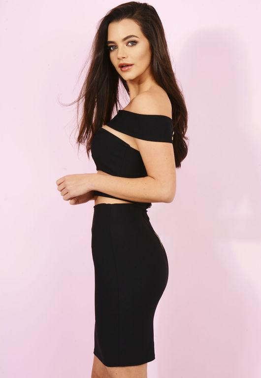 Chloe Black Cut Out Bodycon Dress
