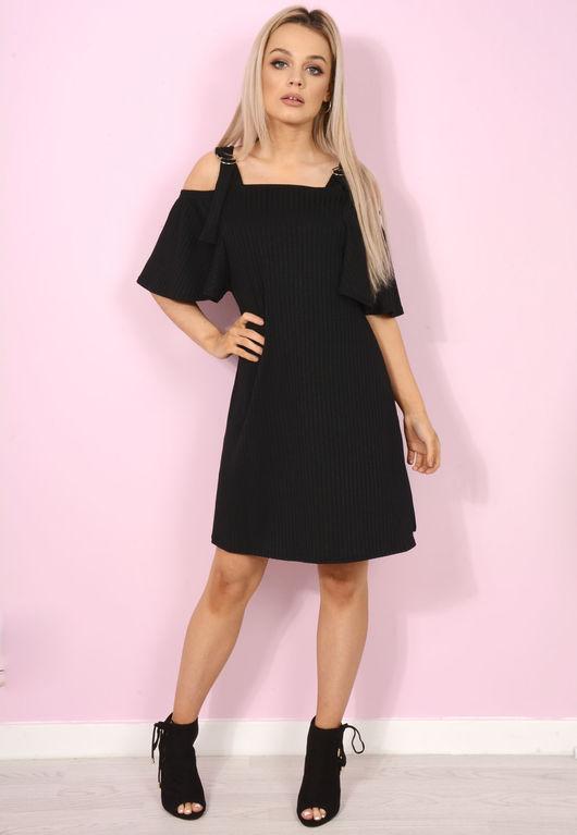 Fifi Black Swing Dress