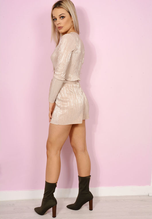 Champagne Wrap Playsuit