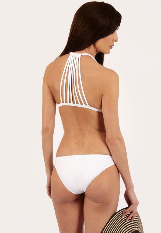 Alesha White Triangle Bikini Set
