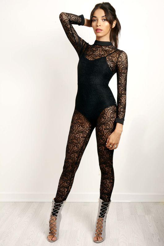 Long Sleeve Lace Jumpsuit