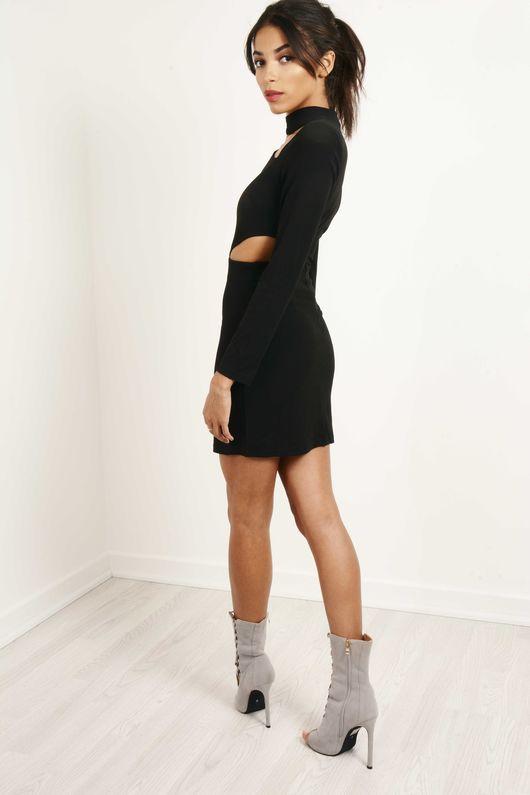 Little Black Cut Out Choker Dress