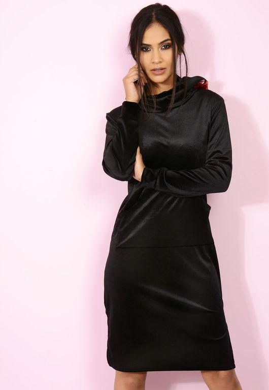 The Hood Velvet Jumper Dress