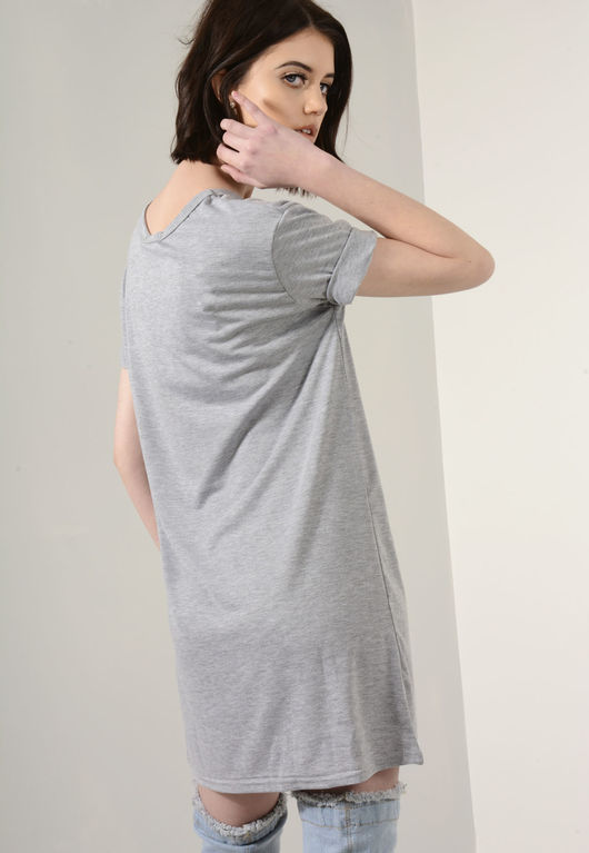 Casey Grey T-Shirt Dress