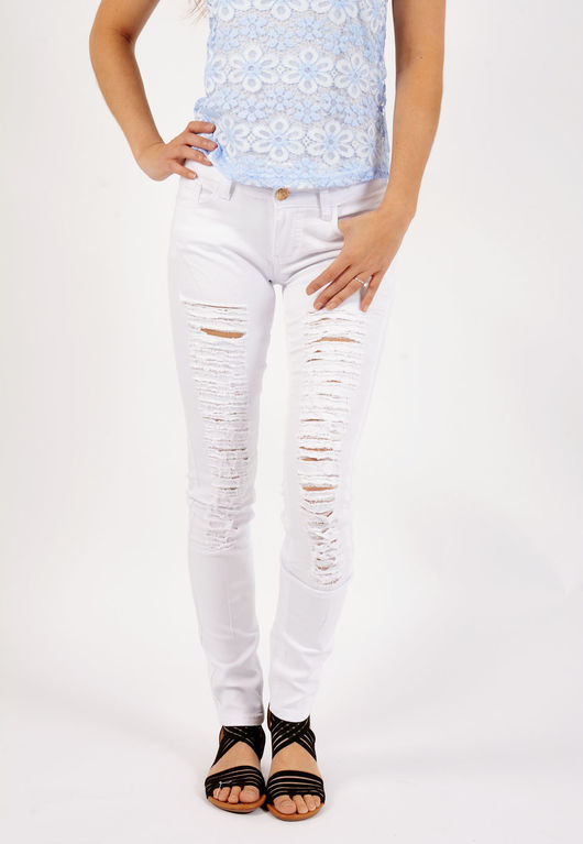 Billie Multi Rip High Waisted Jeans