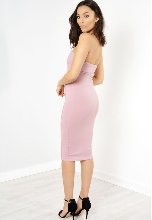 Pink Strapless Bodycon Dress