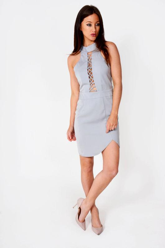 Tanya Lace Feature Sleeveless Shift Dress