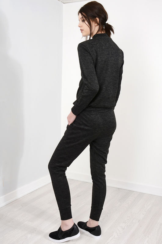 Bella Black Choker Neck Loungewear Set