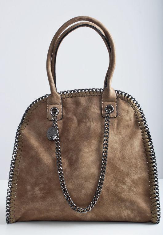 Bella Chain Trim Handbag Brown
